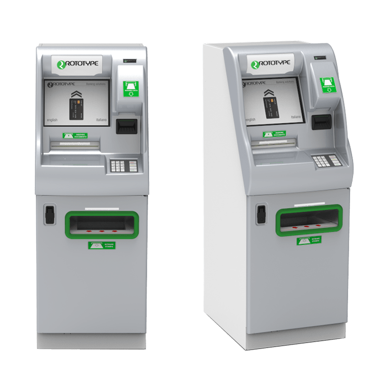 Self service kiosk for deposit and print statement