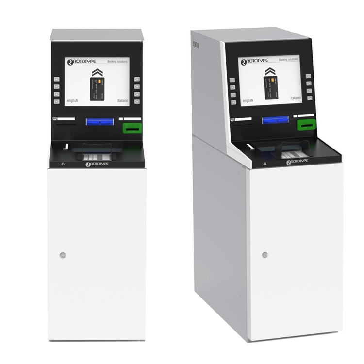 Self service machine for deposit single cheque and withdraw and deposit cash
